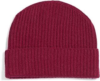 Fishers Finery Women's 100% Pure Cashmere Ribbed Cuffed Hat; Ultra Plush