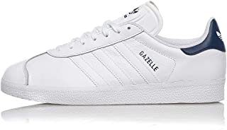 Adidas Gazelle Leather FU9487 White Dark Blue (US 10 - Bianco)