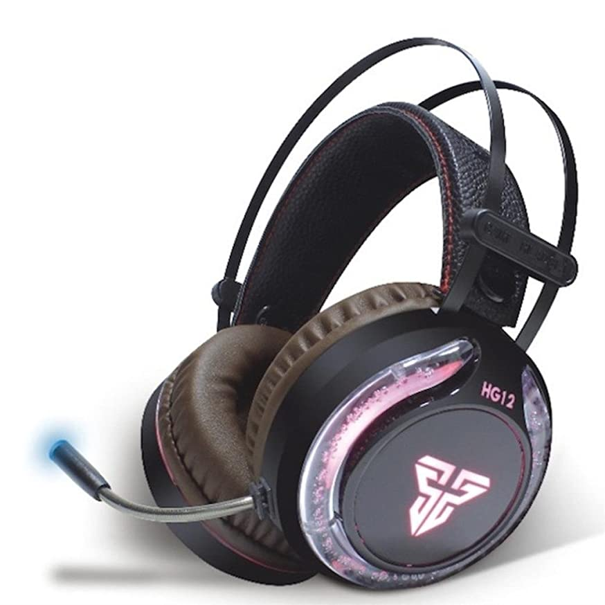Sandistore Surround Sound Gaming Headset Stereo LED Headphones for PS4, PC, Xb One Controller, Noise Cancelling Over Ear Headphones with Mic, LED Light Cool Style Stereo, Soft Memory Earmuffs