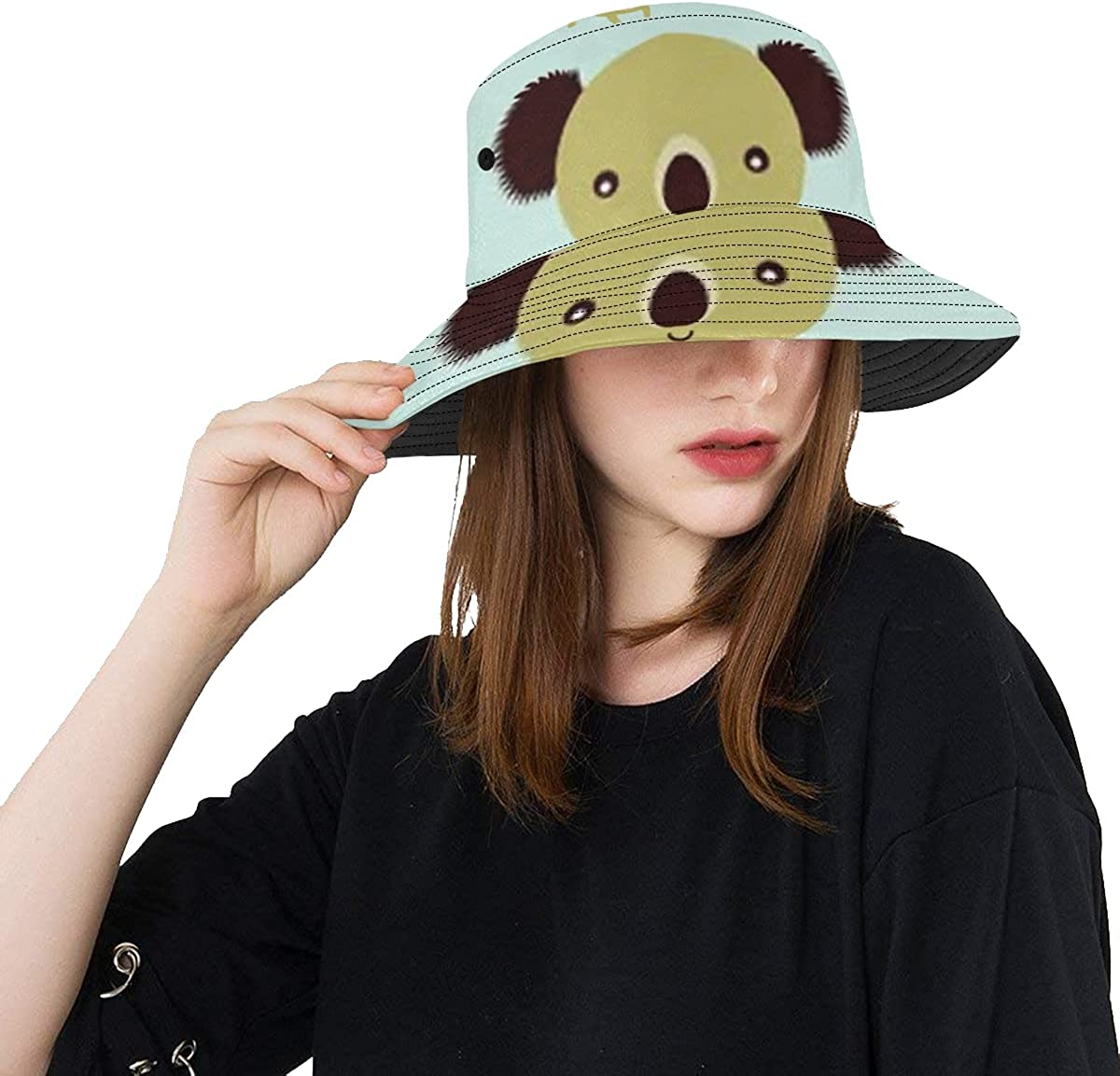Unique Bucket Hat Koala Bear Card Casual Love Greeting Packable High ! Super beauty product restock quality top! quality new