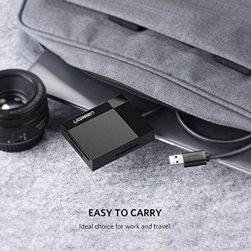 UGREEN USB 3.0 Kartenleser 4 in 1 Kartenlesegerät für SD/CF/TF/MS Card Reader mit parallelem Zugriff auf 4 Slots USB Lesegerät Adapter für SD, CF, Micro SD, SDHC, SDXC, Micro SDHC, Micro SDXC, MS usw