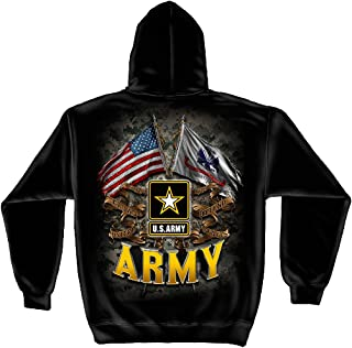 Erazor Bits US Army Hoodie | Army Double Flag US Army Hooded Sweat Shirt ADD-MM2151SW