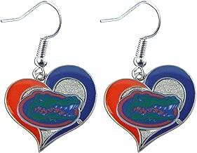 aminco Florida Gators Swirl Heart Dangle Logo Earring Set Charm Gift NCAA