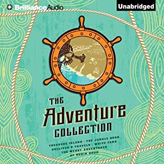 The Adventure Collection     Treasure Island, The Jungle Book, Gulliver's Travels, White Fang, The Merry Adventures of Robin              Written by:                                                                                                                                 Jonathan Swift,                                                                                        Jack London,                                                                                        Rudyard Kipling,                   and others                          Narrated by:                                                                                                                                 Simon Vance,                                                                                        Michael Page,                                                                                        Buck Schirner                      Length: 40 hrs and 21 mins     9 ratings     Overall 4.3