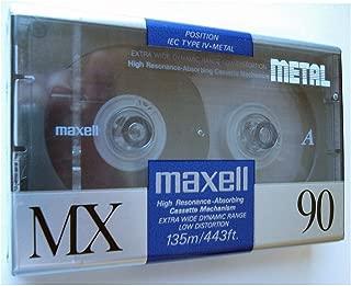Maxell MX 90 Blank Metal Audio Cassette Tape