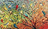 Toland Home Garden 800038 Soft Step Designer Mat, Standard, Tree Birds, Multicolor