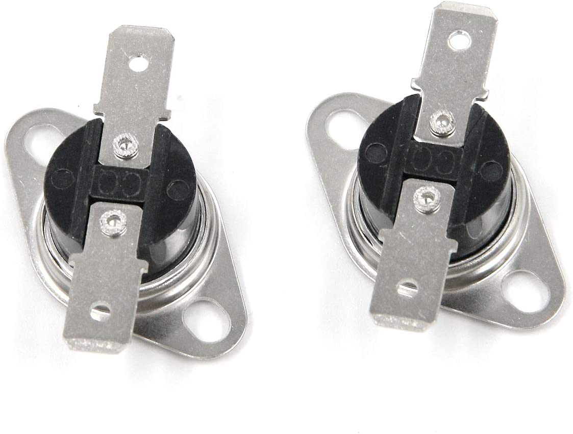 KSD301 Temperature Control Switch Karcy 90/°C//194/°F 250V Thermostat Normally Closed Pack of 10