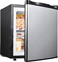 Upright Freezer – Compact Reversible Single Door Table Top Mini Freezer – Free Standing Freezing Machine with Removable Shelf(Silver – COOLLIFE