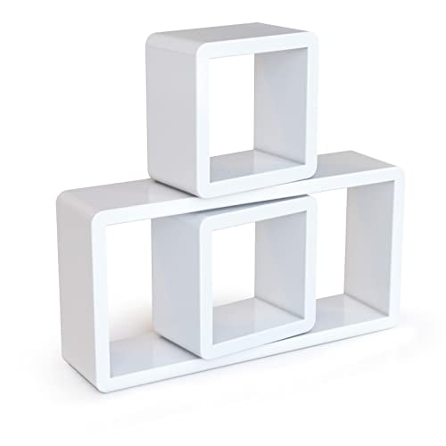 comment poser 3 etageres forme cube