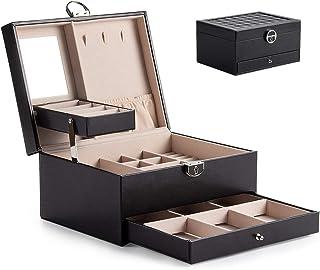 Cofanetto Portagioie Portagioie Scatole per Gioielli Porta Gioielli Beauty Case con Serratura, Specchio Mobile, contiene c...