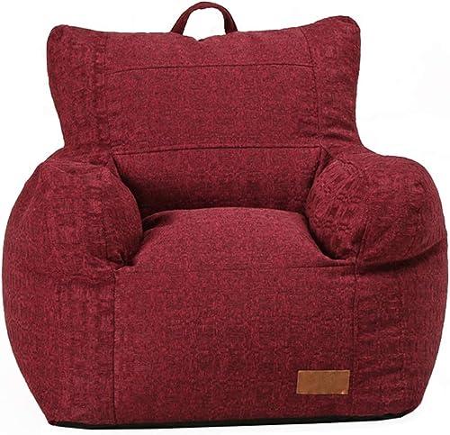 nueva gama alta exclusiva Sillón Puf con Silla Comfort Milano Bean Bag con con con en Ideal para Cualquier habitación Colors (Color   rojo, tamaño   65  70  70cm)  directo de fábrica