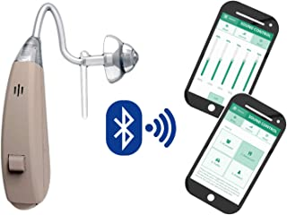 EarSpoke Hearing Amplifier w/Smart Hearing Match, Programmable Wireless App Sound Assist Aid, for Adults and Seniors