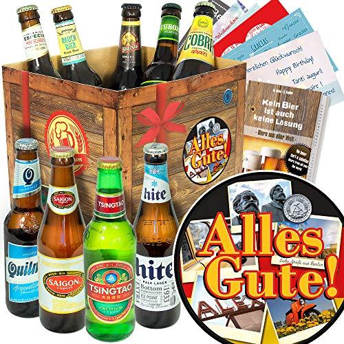 Alles Gute/Bier Geschenkbox mit Biersorten der Welt