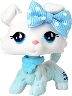 LIKEPET LPS Collie White Sample Blue Tear Eyes Custom Dog Puppy can Draw Pattern by Yourself Collection Action Cartoon Figure Kids Boys Girls Xmas Gift