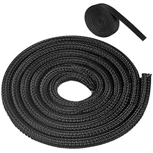 6m Kabelschlauch, Selbstschließender Kabelschutz, 1M Schrumpfschläuche, für Ladekabel, Fahrrad und Auto (9mm)