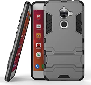 Le S3 Case, LeEco Le 2 Case, LeEco Le S3 Shockproof Case,Skmy-Dual Layer Armor Hard Slim Hybrid Kickstand Military Defender Full-Body Rugged Phone Cover Case for LeEco Le S3 5.5'' (Gray)
