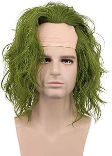 Karlery Adult Men Bald Dark Green Joker Wig Halloween Cosplay Wig Anime Costume Wig