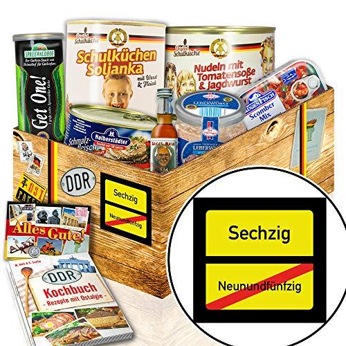 Ortsschild 60 - DDR Ostpaket - Geschenke zum 60ten Geburtstag