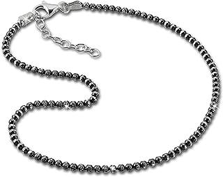 SilberDream cavigliera perle 27cm//annerito con 925argento diamantato SDF2164K