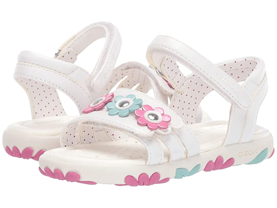 Geox Kids Haiti Girl 2 Sandal (Toddler) (White) Girl