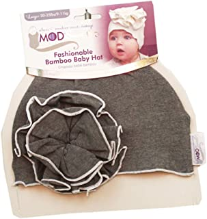 KB Designs Woombie Rayon from Bamboo Mod'Swad Metro Flower Hat Sleeper, Gray, 20-25 Pound