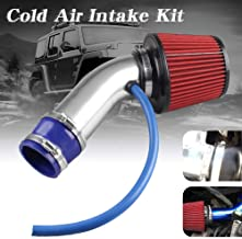 Enclosed Intake Induction Pipe Hose Kit Cocoarm 3 Universal Carbon Fibre Cold Air Filter