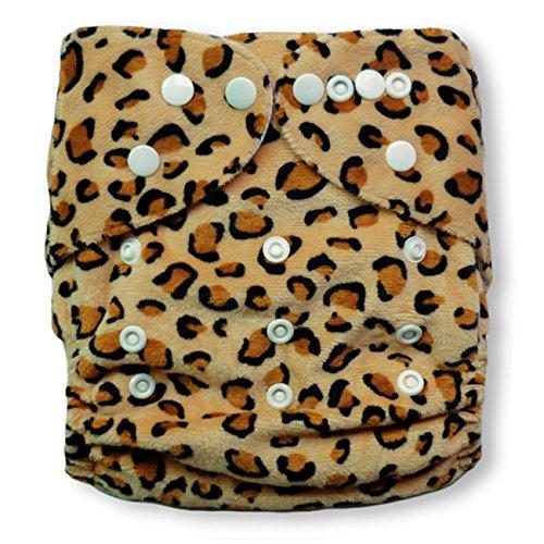Baby Vivo Baby Bambus Windel Stoffwindel Babytuch Kinderwindel Windel Bambuswindel Mehrzweck Windel Waschbar Wiederverwendbar mit 2 Einlagen - Leopard