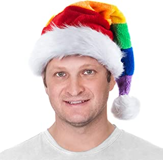 Tigerdoe Colorful Santa Hat - Christmas Hats - Rainbow Holiday Hat - Santa Claus Costume Accessory