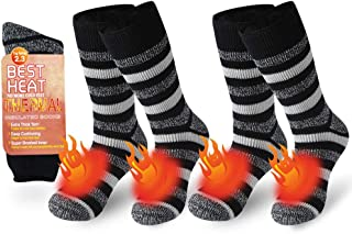 Ristake Warm Thermal Socks, Winter Thick Boot Insulated Heated Cold Weather Socks for Women & Men, 1/2 Pack