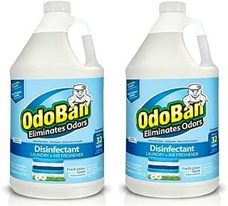 OdoBan 1 Gal Concentrate 2-Pack, Fresh Linen Scent – Odor Eliminator, Disinfectant,..