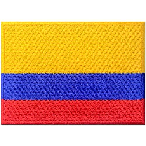 Kolumbien Flagge Kolumbianisch Nationales Emblem Bestickter Aufnäher zum Aufbügeln/Annähen