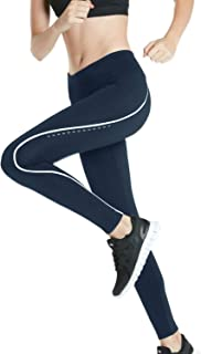 Winter Thermal Running Fleece Lined Pants Cycling Tights w Rear Pocket