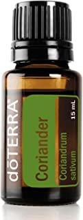 doTERRA - Coriander Essential Oil - Promotes Digestion, Helps Maintain a Clear Complexion, Promotes Relaxation; for Diffusion, Internal, or Topical Use - 15 mL