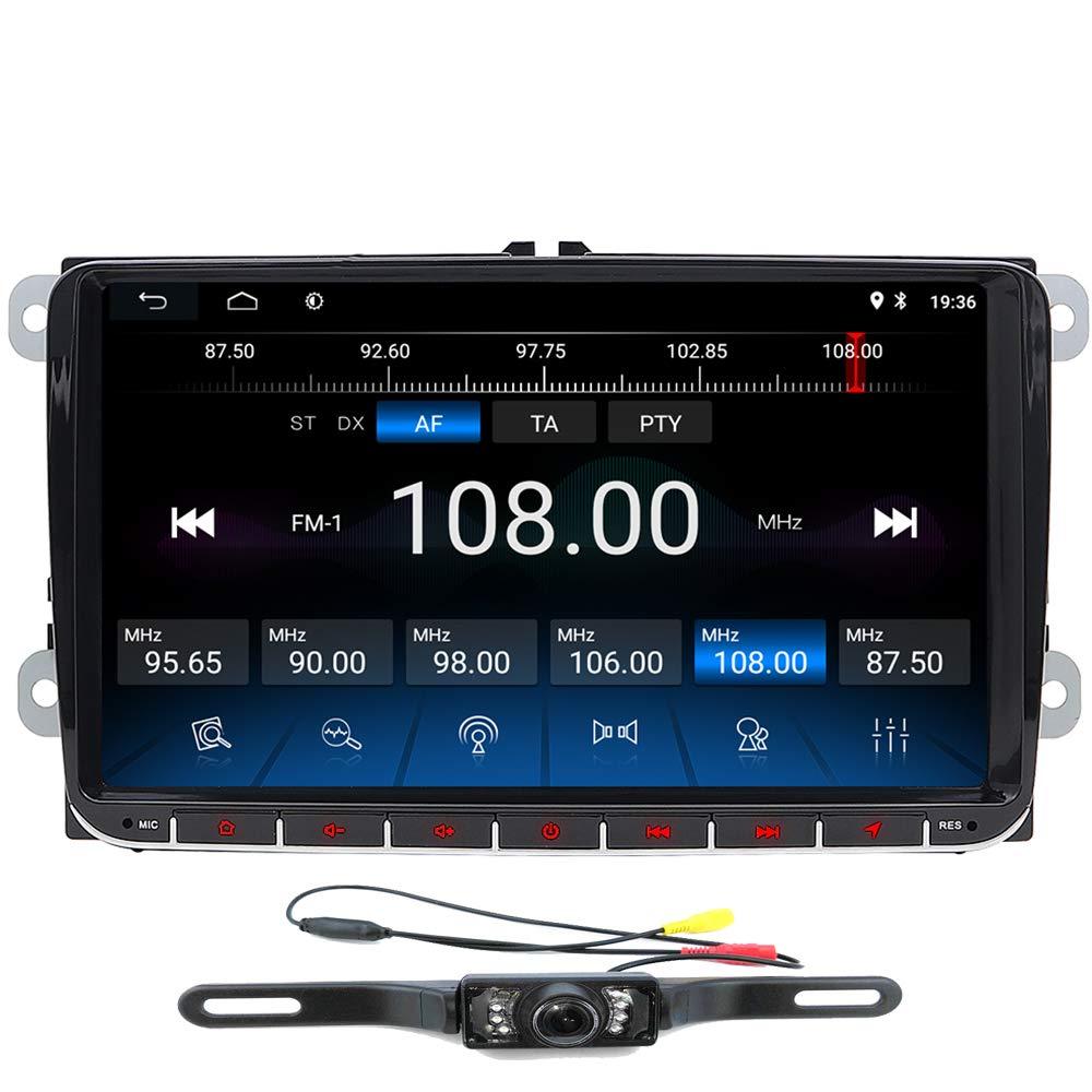Cámara de visión Trasera + Android 10.0 navegador GPS estéreo para Coche para VW Seat Golf