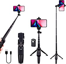 Selfie Stick Tripod Bluetooth, LATZZ 40 Inch Extendable Phone Tripod Monopod with Wireless Remote Shutter and Tripod Stand Compatible iPhone 11 Pro/Xs MAX/XR/X/8/8P/7/7P/Galaxy Note 8/S10/S9+/S9, More