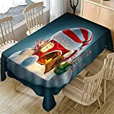 Efecto 3D Decoración De La Sala De Estar Cocina Impermeable Mantel Rectangular Cafetería Mesa De Centro Cuadrada Mantel Interior Y Exterior Sala De Estar Jardín Navidad Pascua Fiesta 140x180cm