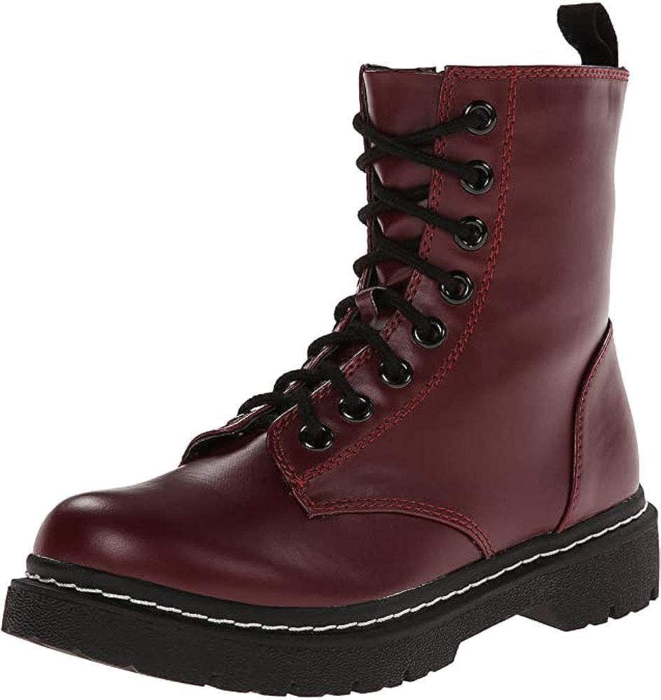 Soda Grunge S Womens Side Zipper Platform Combat Boots