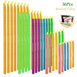 36Pcs Plastic Bag Sealer Sticks, AUHOKY Reusable Bag Sealing Clips with 5 Different Sizes, Keep Bags Airtight Watertight & Food Fresh, Easy Storage Accessories for Kitchen (Mixed Colors)