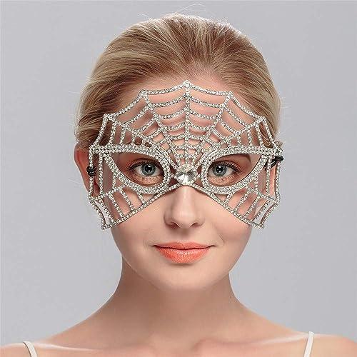 NUOKAI Bridal Tiara Maske Strass Hochzeit Zubeh