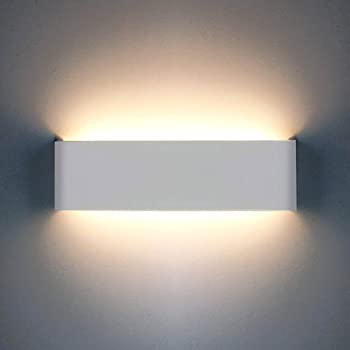 Led Wall Lights Indoor 1200lm Up Down Indoor Wall Lights Modern Aluminum Wall Light For Living Room Bedroom Bedroom Dining Room Corridor Stairs Balcony Warm White Amazon Co Uk Lighting
