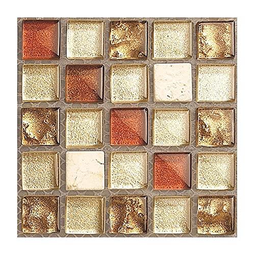 RJJX 20pcs / Set. DIY. Küche Badezimmer Aufkleber Wasserdicht Selbstklebende 3D Fliesen Klebstoff Pads Wandaufkleber Mosaikfliesen Aufkleber Dekor (Color : 02)