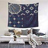 ZVEZVI Marruecos Patrón marroquí Medallón étnico Turquía Mosaico Batik Estambul Tapiz Arte de la Pared para la Sala de Estar Dormitorio Decoración del Dormitorio 60 × 51