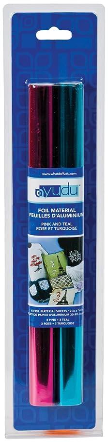 Provo Craft Yudu Foil Sheets: Pink & Teal