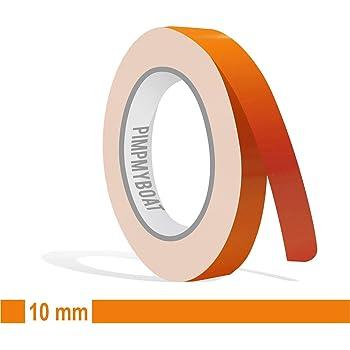Siviwonder Zierstreifen Orange Glanz In 9 Mm Breite Und 10 M Länge Für Auto Boot Jetski Modellbau Klebeband Dekorstreifen Auto