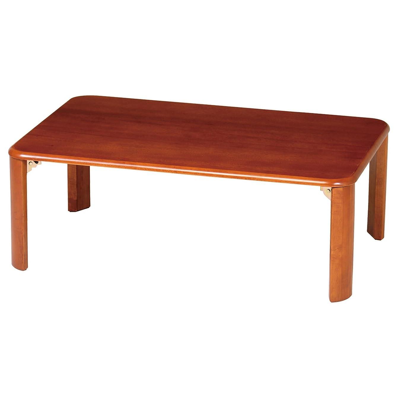 ニッケルゼリーコークス弘益 シンプル座卓テーブル 折たたみ 90x60cm ブラウン Z-T9060BR