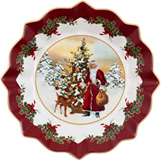 Villeroy & Boch Toys Fantasy Large Bowl Santa and Tree, 25 x 25 x 4 cm, White