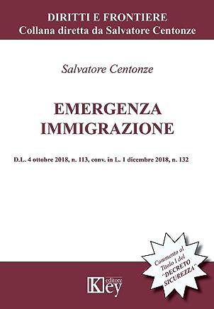 """Emergenza immigrazione: Commento al Titolo I del """"DECRETO SICUREZZA""""  D.L. 4 ottobre 2018, n. 113, conv. in L. 1 dicembre 2018, n. 132 (Diritti e Frontiere)"""