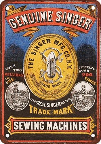 Zanger naaimachines vintage look reproductie metalen blik teken 12x18 inch 2