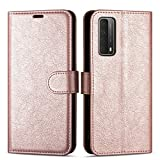 """Case Collection Premium Leather Folio Cover for Huawei P Smart 2021 Case (6.67"""") Magnetic Closure Full Protection Book Design Wallet Flip with [Card Slots] and [Kickstand] for P Smart 2021 Phone Case"""
