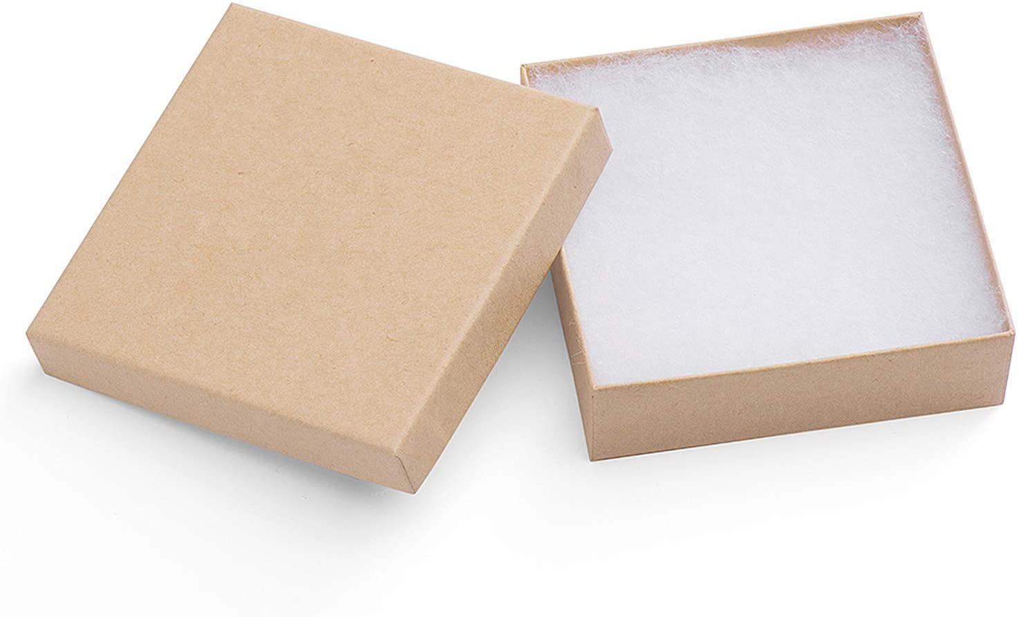 White Swirl Cotton Filled Jewelry Gift Boxes For Displays Showcases Kit 50 Pcs
